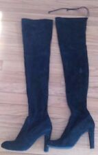 STUART WEITZMAN Highland black suede over-the-knee boots size 8 M