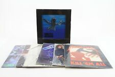 "(LOT OF 7) METALLICA NIRVANA NEVERMIND MASTER GARAGE LP VINYL 12"" CD RECORD"