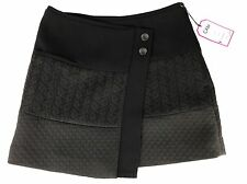 Cabi Womens Black Quilted Swathe Wrap Short Chic Skirt Sz XS S NEW (see details)