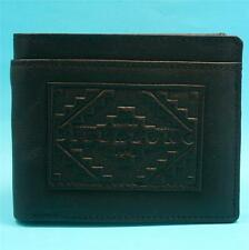 BILLABONG MENS Boys BLACK REAL LEATHER NEW Tri Fold Brand New