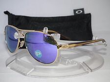 OAKLEY POLARIZED TIE BREAKER Sunglasses OO4108-14 Polished Gold / Violet Iridium