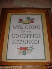 Crosstitch Framed Picture Welcome Country Kitchen