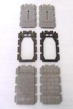 Playmobil  4 Mauerelemente 2 Rahmen Schießscharten Ritterburg 3666 3450 Ritter
