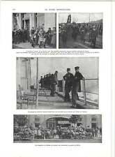 WW1 lourdement les soldats blessés revenant de l'allemagne suisse hospitalité
