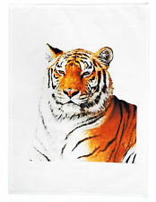 The Original Tiger Large Cotton Tea Towel By Half a Donkey
