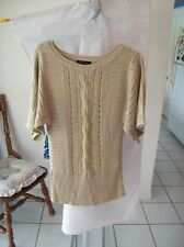 Woman's Gold Metallic Sweater from White House Black Market Size XS