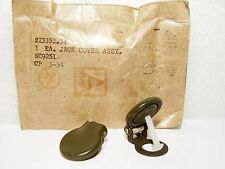 "NOS Sealed 1951 NIB Olive Drab Military 1/4"" Input Jack Toilet Seat Dust Cover"