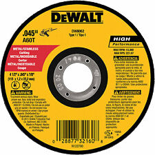 Dewalt DW8062 Metal Stainless High Performance Cut Off Wheel 4-1/2  5PK