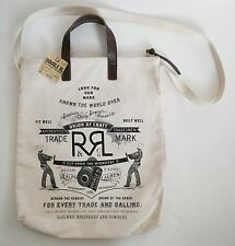 RALPH LAUREN RRL DOUBLE RL Canvas & Leather TOTE Bag