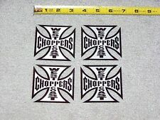 JESSE JAMES CFL WEST COAST CHOPPERS Cross Metal Appearance Decal Sticker Lot Set