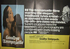 Sylvia Kristel  GOODBYE EMMANUELLE(1977)  Original movie poster