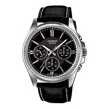 OROLOGIO UOMO CASIO COLLECTION MULTIFUNZIONE MTP-1375L-1A NERO PELLE CASSA 42MM