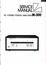 Service manual manual for Luxman M-300
