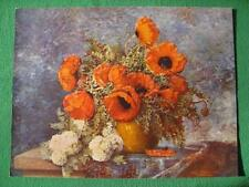 "Max Theodor Streckenbach ""Still Life of Poppies"" Vintage Original 1940's Litho !"