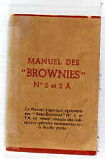 Original Kodak Brownie No. 2, No. 2A & Beau Brownie Instruction Manual-French