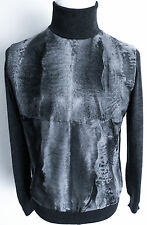 $6775 BRIONI Rare Karakul Persian Lamb Astrakhan Fur Turtleneck Sweater Large