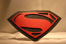 REFLECTIVE TRAILER HITCH COVER ~ SUPERMAN ~ MAN OF STEEL ~ NEW!  ~ FREE SHIP ~