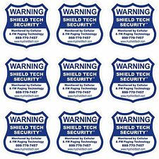 9 BACK ADHESIVE WINDOW or DOOR DECAL -WARNING STICKER ALARM SECURITY SYSTEM PK B