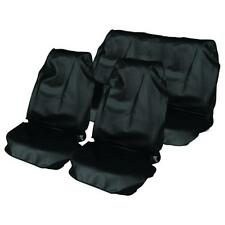 BLACK CAR WATER PROOF FRONT & REAR SEAT COVERS FOR TOYOTA AYGO 05 on