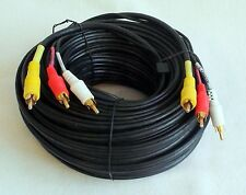 Audio + Videokabel 20m 3 x Chinch ST/ST