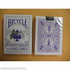 Purple Trace Deck Bicycle Playing Cards Poker Size USPCC Devil Angel Limited New