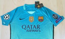 Messi 10 Medium FC Barcelona  Nike Third kit UEFA Champions League Jersey Green