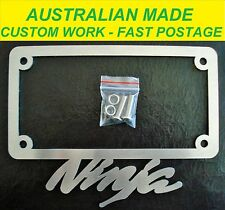 NINJA KAWASAKI LICENSE / NUMBER PLATE FRAME SURROUND COVER ALL MODELS. OZZY MADE