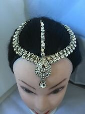Silver Crystal Indian Matha Patti Tikka Head Chain Jewelery Bridal Wedding 5