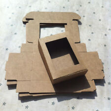 Kraft Paper Box Wedding Favor Candy Gift Party Supply Craft Box Open the window