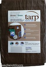 NEW Kotap 6' X 8' Reversible Brown/Green Waterproof Poly Tarp UV Resistant