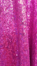 HOT PINK SEAWEED SEQUIN ALL OVER FABRIC STRETCH MESH DANCE WEAR TABLECLOTH DECOR