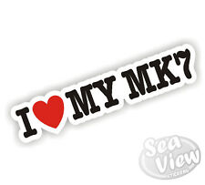 I Heart Love My mk7 golf Transit Fiesta VW Ford voiture van autocollant decal