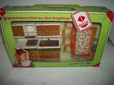 Vintage Vero Wooden Kitchen Doll House Furniture, Erzgebirge Mountain, Germany