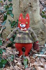 Artist Doll Mimi Kirchner Professor Fox Fellow wool doll plush softie