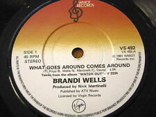 "BRANDI WELLS - WHAT GOES AROUND COMES AROUND  7"" VINYL"