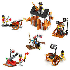5 Building Blocks Castle Caribbean Pirate Ship Boat Cannon Gift Toy 27041 280pcs