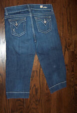 KUT From the KLOTH size 10 dark blue STRETCH capri style blue jeans NICE!  Up fo