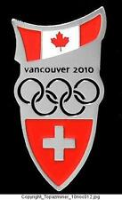 OLYMPIC PINS 2010 VANCOUVER COUNTRY SWITZERLAND NOC