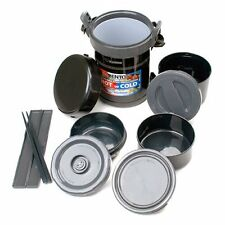 SL-GRE18 Durable stainless steel Classic Bento Vacuum Lunch Jar - Black