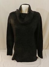 DKNY JEANS Womens Tunic Cowl Neck Pullover Sweater, Black Heather Color NWT L