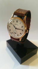 Vintage Gents 1950s Solid 9K Gold Garrard Watch Manual Wind Boxed