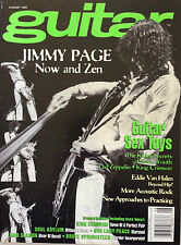 Guitar For Pract. Musician Magazine August 1995 Jimmy Page Now And Zen Van Halen