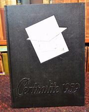 "School Annual Yearbook ""Centralite"" Central High Knoxville Fountain City TN 1959"