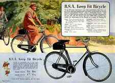 032 Bsa Keep Fit Bicycle Vintage Photo Print A4