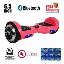 """UL 2272 Certified 6.5"""" Electric Self Balancing Scooter Hoverboard Bluetooth Pink"""
