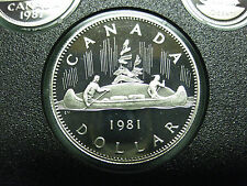 1981 Canadian Frosted Proof Nickel Dollar ($1.00) **Key Date**