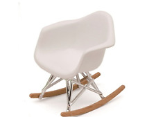 DOLLHOUSE MINIATURE Eames Rocker Modern Mid Century Chair  1:12  NEW! WHITE