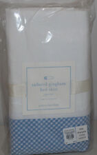 NIP Pottery Barn Kids Blue GINGHAM Tailored Eric Carle Crib Bed Skirt