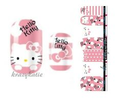 Hello Kitty Pink Nail Wrap Patch Foil Adhesive Stickers 14pcs Ultra-thin