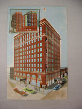 VINTAGE ADVERTISING POSTCARD FOR THE HOTEL SAVERY IN DES MOINES IOWA UNUSED